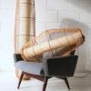 Large Vintage Wicker Ceiling Lamp 4