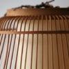 Large Vintage Wicker Ceiling Lamp 5