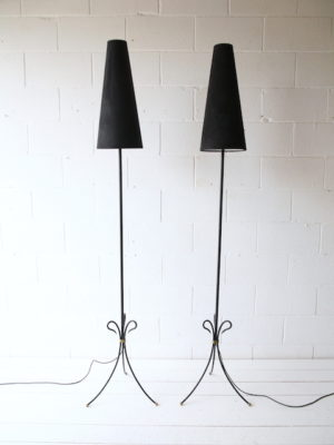 Pair of French 1950s Floor Lamps 3