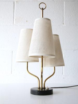 Rare 1950s Triple Table Lamp