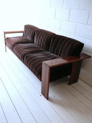 Rosewood 'Artona' Sofa by Afra & Tobias Scarpa 1