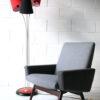 Vintage 1950s Red and Black Floor Lamp
