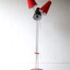 Vintage 1950s Red and Black Floor Lamp 2