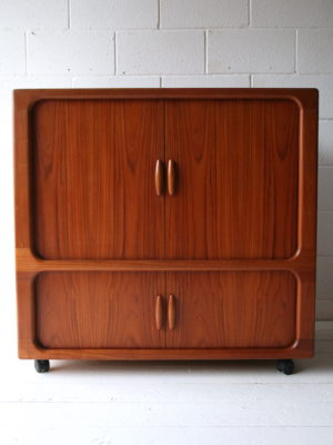 Vintage Danish Media Cabinet by Dyrlund