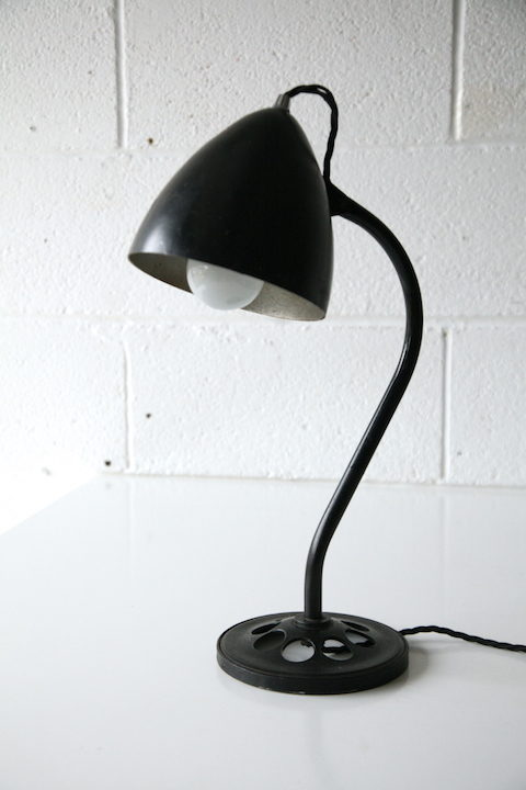 1940s Black Desk Lamp 1