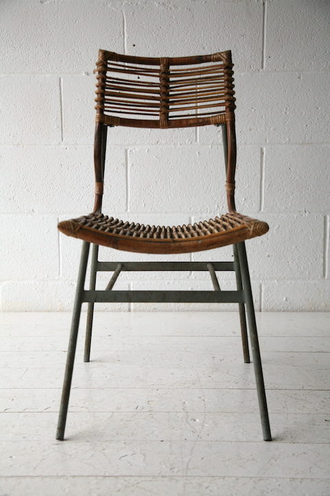 1950s Cane Steel Chair