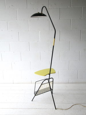 1950s French Floor Lamp with Table 4