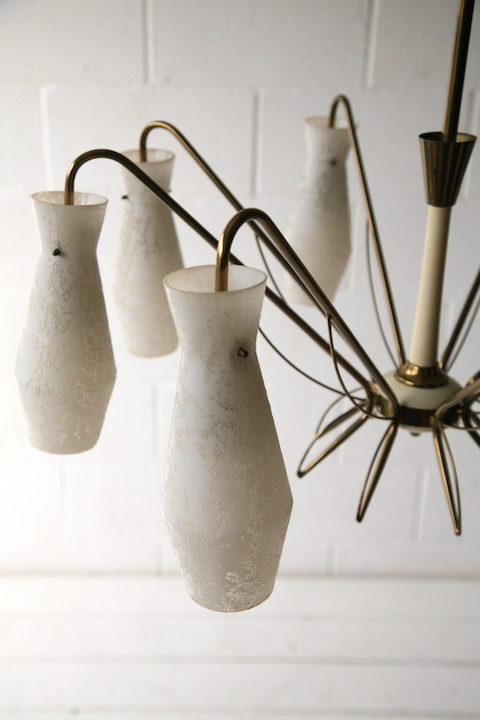 1950s French Glass Chandelier 4