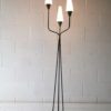 1950s French Glass Triple Floor Lamp 1
