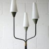 1950s French Glass Triple Floor Lamp