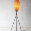 1950s French Tripod Floor Lamp with Pleated Shade 2