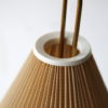 1950s French Tripod Floor Lamp with Pleated Shade 3