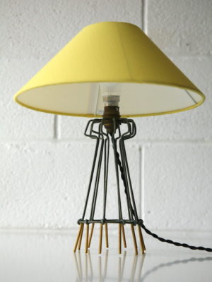 1950s French Wire Table Lamp