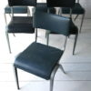 1950s Stacking Chairs by James Leonard for Esavian 1