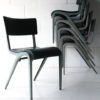 1950s Stacking Chairs by James Leonard for Esavian 2