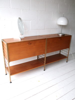 1960s Low Ladderax Shelving Unit 1