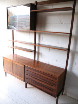 1960s Rosewood Shelving Unit 5