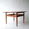 1960s Square Danish Teak Coffee Table 1