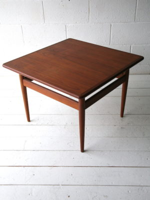 1960s Square Danish Teak Coffee Table
