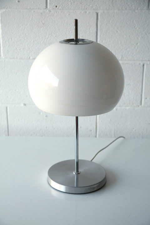 1970s Chrome Mushroom Table Lamp