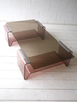 1970s Plexiglass Coffee Table by Michel Dumas 1