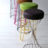 Coloured Modern Wire Stools 1