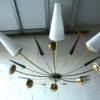 Large 1950s Chandelier by Arlus France 1