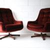 Pair of 1960s Swivel Chairs