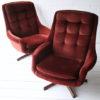 Pair of 1960s Swivel Chairs 3