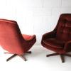 Pair of 1960s Swivel Chairs 4