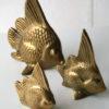 Set of 3 Vintage Brass Fish