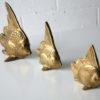 Set of 3 Vintage Brass Fish 2