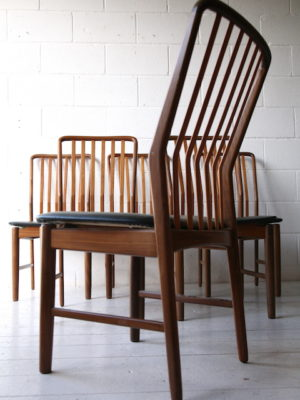 Set of 6 Danish Dining Chairs by Svend Madsen 2