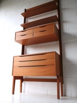 Vintage 'Veggen De Luxe' Modular Teak Unit