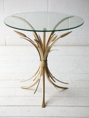 Vintage Wheat Sheaf Table 3