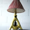 1950s Ceramic Lamp and Shade 2