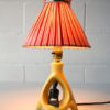 1950s Ceramic Lamp and Shade 6