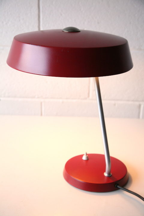 1950s Red Desk Lamp 4