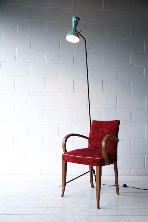 1950s Stilnovo Floor Lamp Cream And Chrome
