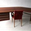 Large 1950s Teak Executive Desk 2