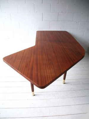 Large 1950s Teak Executive Desk 6
