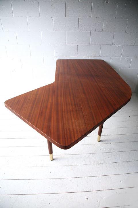 Large 1950s Teak Executive Desk 6