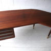 Large 1950s Teak Executive Desk 8