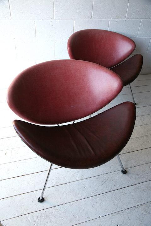 Pierre Paulin Orange Slice Chairs for Artifort