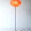 1950s Floor Lamp with Pleated Shade 2