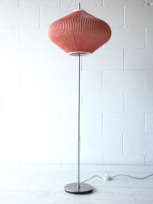 1950s Floor Lamp with Pleated Shade 4