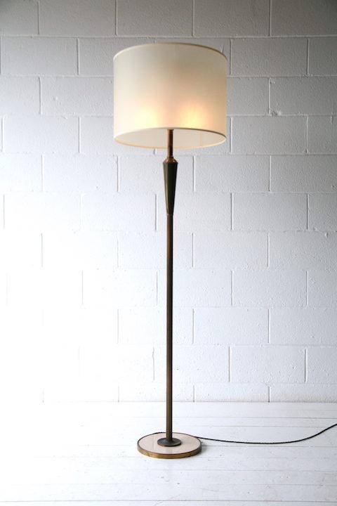 1950s Italian Marble Brass Floor Lamp 5