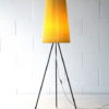 1950s Yellow Tripod Floor Lamp