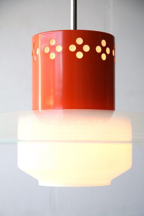1960s Glass Ceiling Light 1