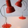 1960s Orange Desk Lamps by Josef Hurka for Napako 3